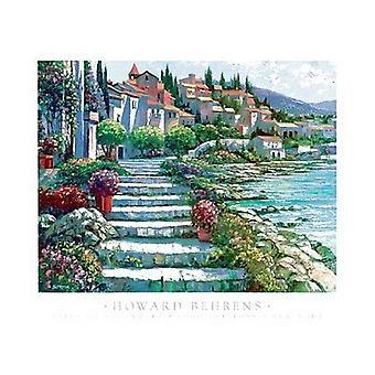 Steps Of Saint Tropez Poster Print by Howard Behrens (35 x 27)