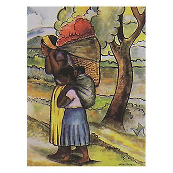 Flower Vendor with Child Poster Print by Diego Rivera (20 x 26)