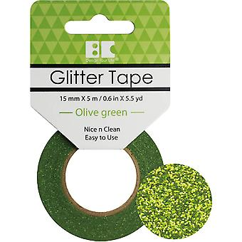 Best Creation Glitter Tape 15mmX5m-Olive Green GTS-008
