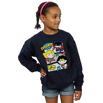 DC Comics Girls Chibi Superfreunde tanzen Sweatshirt