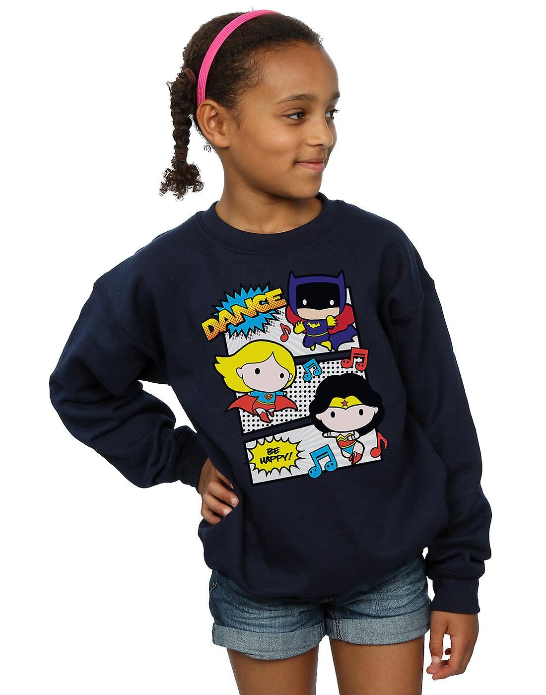 DC Comics flickor Chibi Super vänner Dans Sweatshirt