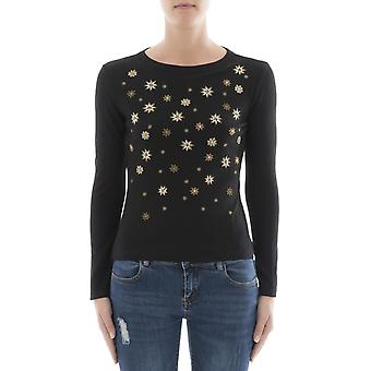 Alberta Ferretti women's 09315101A2555 black Wool Sweater