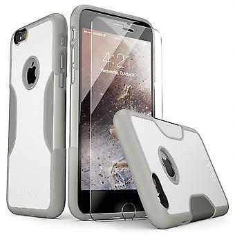SaharaCase® iPhone 6/6s Fossil White Case, Classic Protective Kit Bundle with ZeroDamage® Tempered Glass