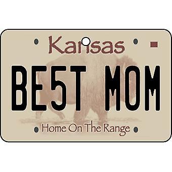 Kansas - Best Mom License Plate Car Air Freshener