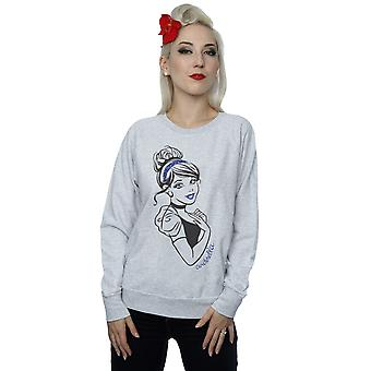 Disney Princess Women's Cinderella Glitter Sweatshirt