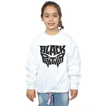Marvel Girls Black Panther Worded Emblem Sweatshirt