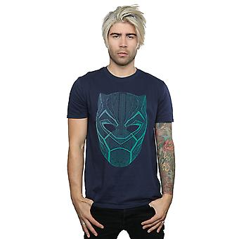 Förundras över mäns Black Panther Tribal Mask T-Shirt