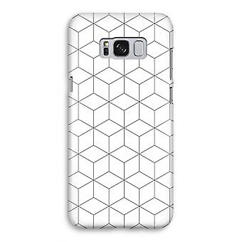Samsung Galaxy S8 Full Print Case - Cubes black and white