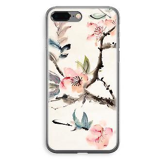 iPhone 8 Plus Transparant caso - Japenese fiori