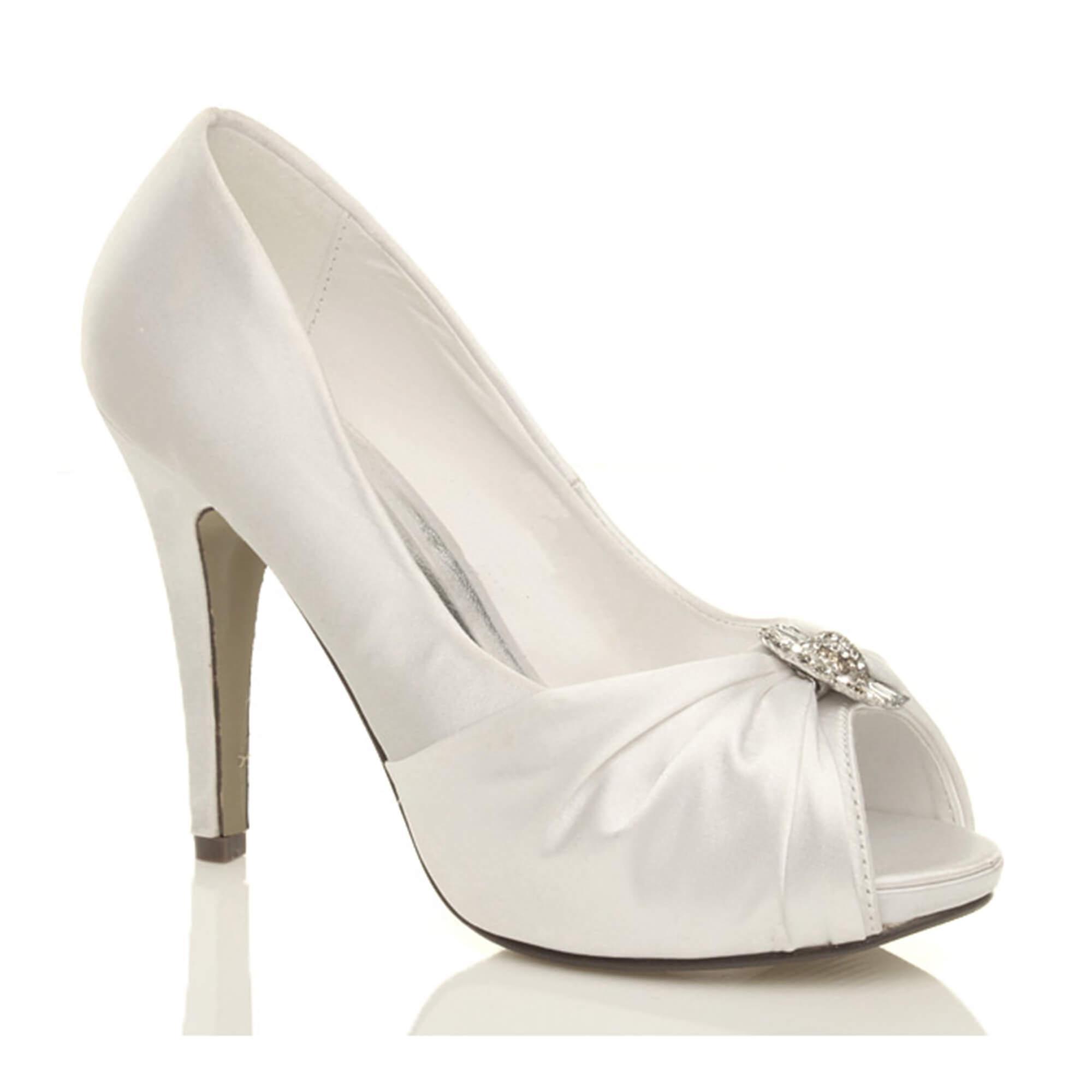 Ajvani womens high heel platform wedding prom bridal party court peep toe shoes pumps
