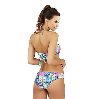 Boutique Ladies Tropical Twist Bandeau Bikini Set with Detachable Straps