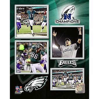 Philadelphia Eagles 2017 NFC Champions zusammengesetzte Fotodruck