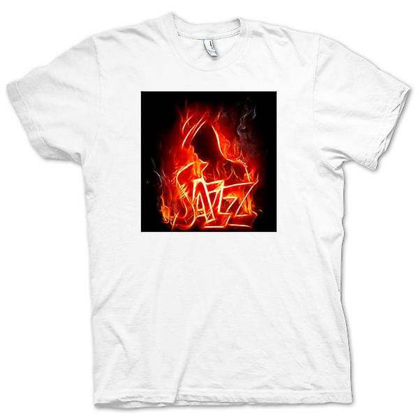 Womens T-shirt - Neon Jazz Design