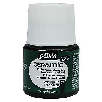 Pebeo Ceramic Paint 45ml (Leaf Green)