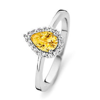 Orphelia argento 925 anello goccia Citrin colore zirconio ZR-7226/CI