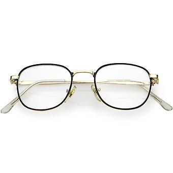 True Vintage Metall Square Brille schlankes Metall Arme 46mm