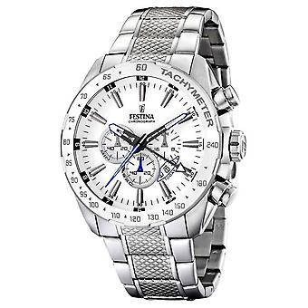 Festina Chronograph Stainless Steel Bracelet White Dial F16488/1 Watch