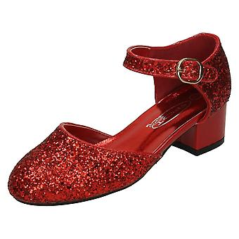 Girls Spot On Mid Heel Shoe H3065