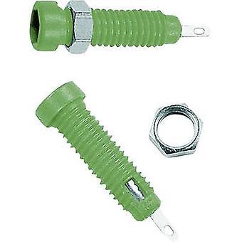 Stäubli LB2-IF Jack socket Socket, vertical vertical Pin diameter: 2 mm Green 1 pc(s)