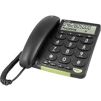doro PhoneEasy 312cs Corded Big Button Visual call notification Matte Black