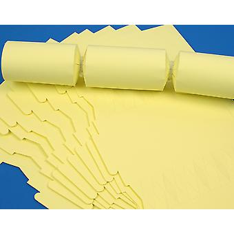 100 Pale Pastel Yellow Make & Fill Your Own Cracker Boards - Bulk Buy
