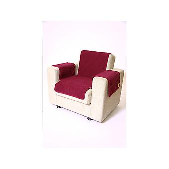Armrests - and armchair saver set with 2 pockets MALI color: bordeaux wool