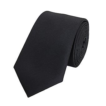 Schlips Krawatte Krawatten Binder 6cm schwarz Denimlook uni Fabio Farini