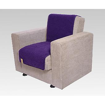 Seat saver wool of purple 175 cm x 47 cm