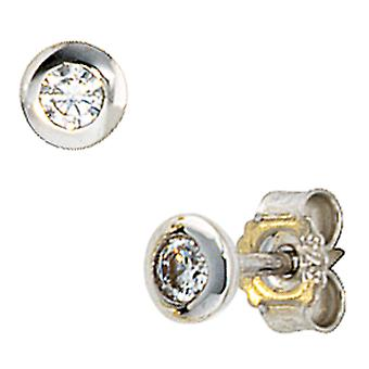 375/w studs white gold Stud Earrings of white gold earrings with cubic zirconia
