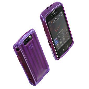 Verizon High Gloss Silicone Case voor de BlackBerry Storm2 9550 (paars) - RIM9550SI