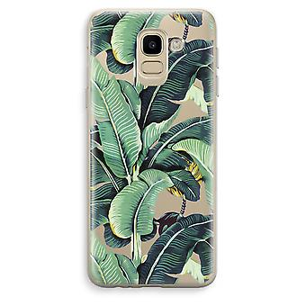 Samsung Galaxy J6 (2018) Transparent Case (Soft) - Banana leaves