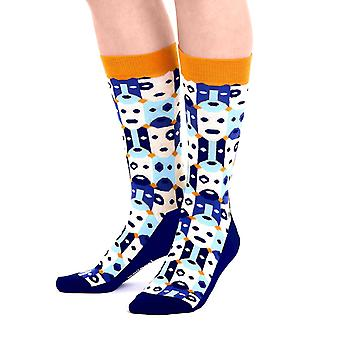 Bobo luxury combed cotton designer crew socks in yellow | By Ballonet