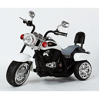 Harley-Davidson Style Kids 3 Wheel Chopper 6V Electric Motor Trike White