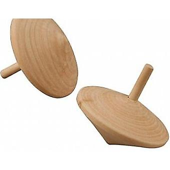 Wooden Spinning Tops to Decorate - Pack of 20 | Wooden Shapes for Crafts