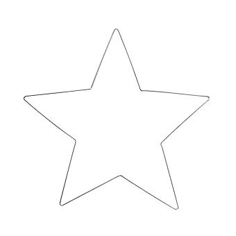 Large 40cm Wire Christmas Star to Decorate - Adults Crafts