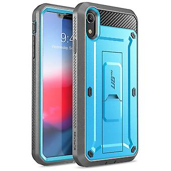 iPhone XR Case, Full-Body Rugged Holster Case with Built-in Screen Protector, Unicorn Beetle Pro Series - (Blue)