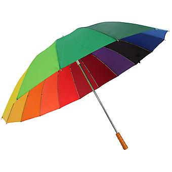 Drizzles Adults Unisex Rainbow Golf Umbrella