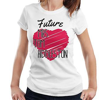 Toekomst mevrouw Tom Hiddleston Love Heart Dames T-Shirt