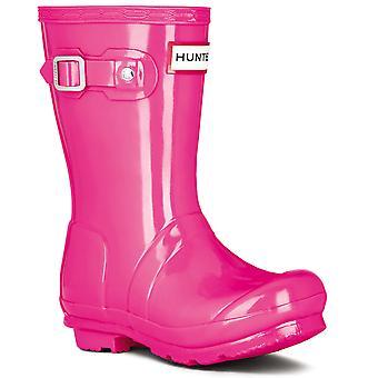 Unisex Kids Hunter Original Gloss Winter Waterproof Wellington Rain Boots
