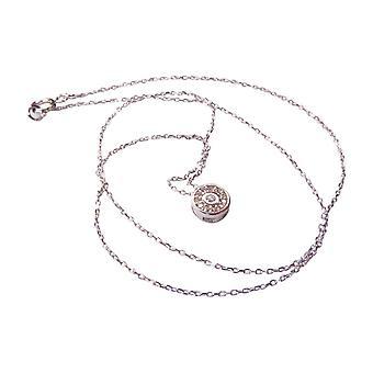 roseta de cadena de oro blanco de k 14