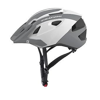 CRATONI AllRide Fahrradhelm // weiß/silber glanz