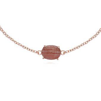 Gemondo Rose Gold Plated Silberarmband Rhodochrosite Oval 19cm