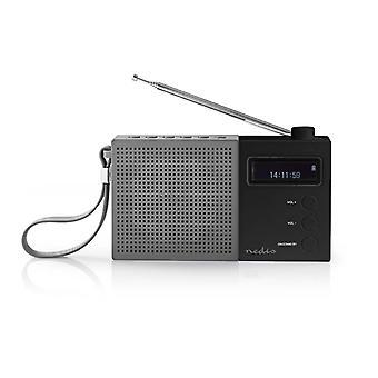 Nedis RDDB2210BK Digitale Dab+ Radio 4,5 W Fm Klok & Alarm Grijs / Zwart