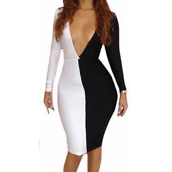 Waooh - Fashion - engen kurzen Kleid zweifarbig