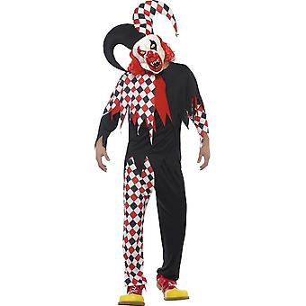 Crazed Jester Costume, Medium