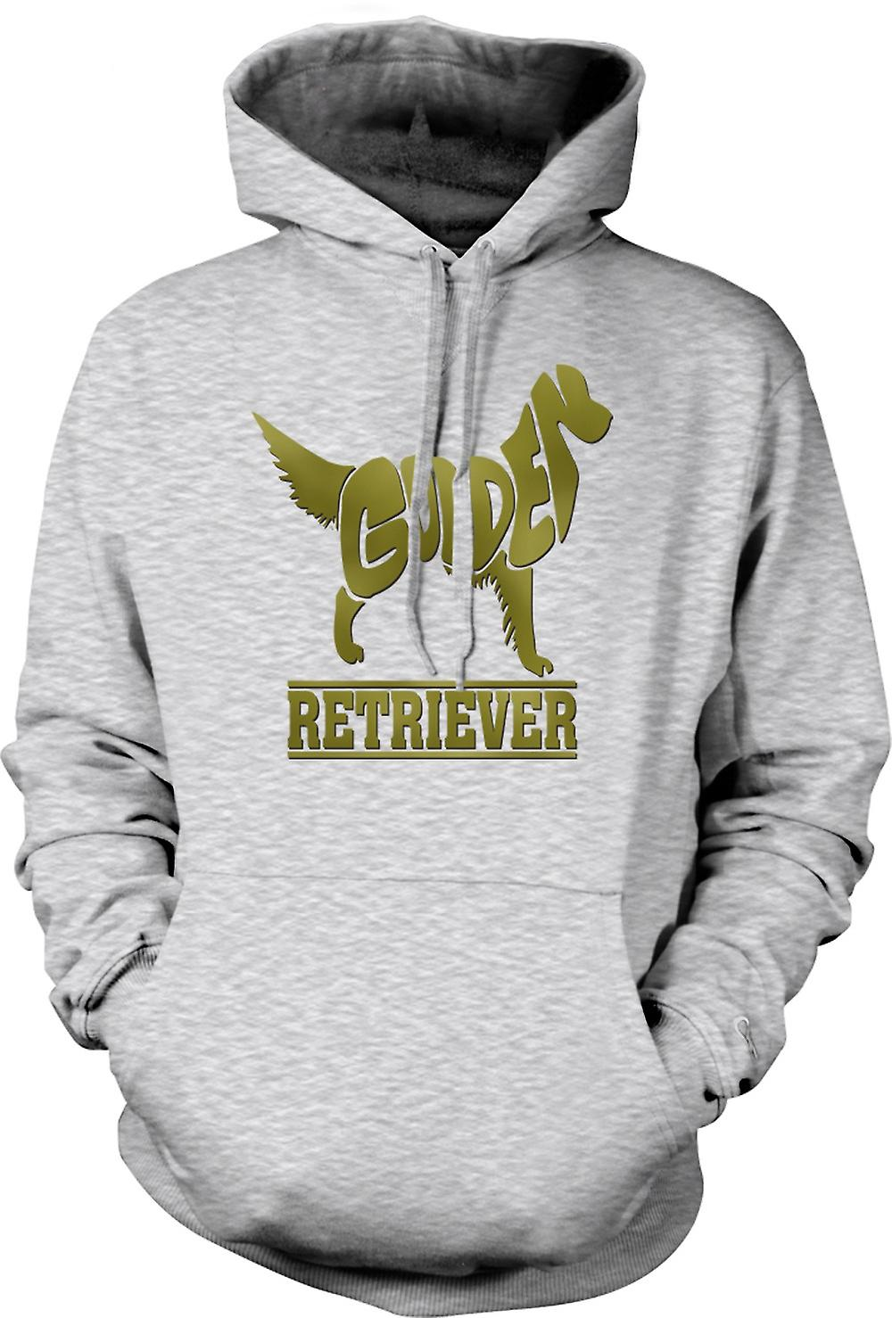 Mens Hoodie - Golden Retriever