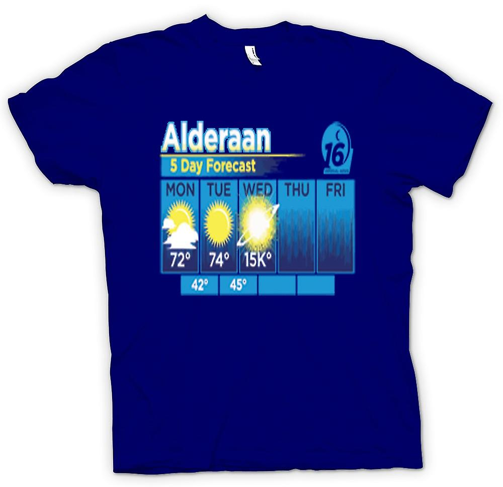 Mens T-shirt - Alderaan 5 Day Weather Forcast - Star Wars