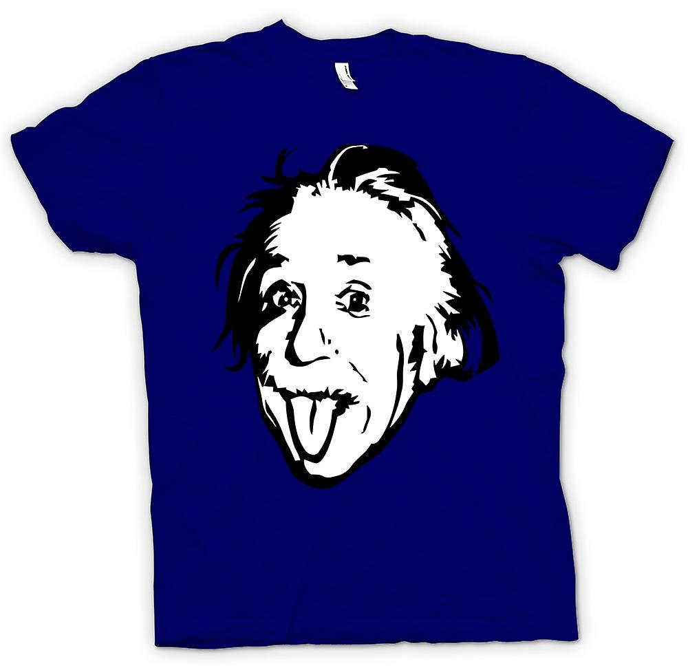 Hommes T-shirt - Albert Einstein Tongue Out - Drôle