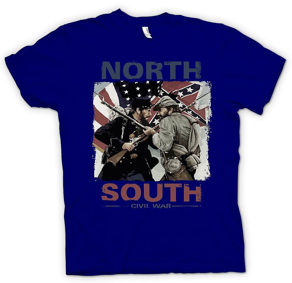 Herr T-shirt - North South inbördeskriget - amerikanska inbördeskriget