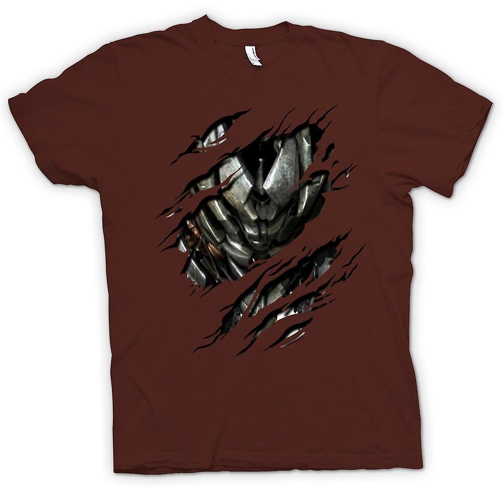Camiseta para hombre - Megatron Ripeado diseño - inspirado de transformadores